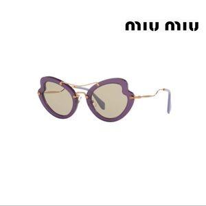 MIU MIU PURPLE/GOLD CAT EYE SUNGLASSES